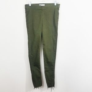 Free People Easy Goes It Olive Jeggings Size 29